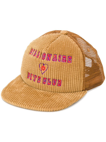 Embroidered Logo Corduroy Cap