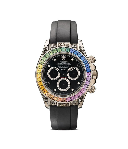 Customised Rolex Daytona Rainbow engraved 40mm