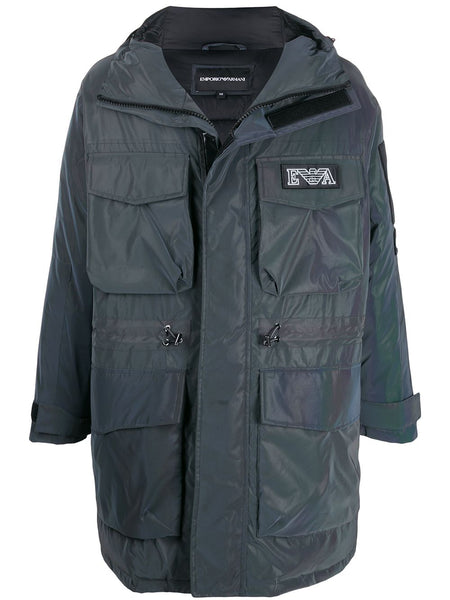 Oversized Multi-Pocket Padded Coat