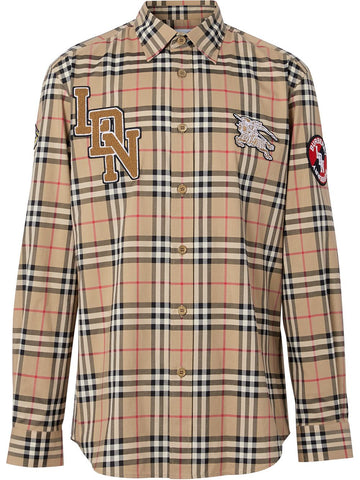 Burberry Patch Vintage Check Cotton Shirt