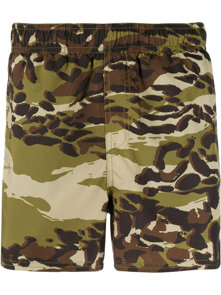 Camouflage Printed Swim Shorts
