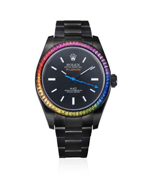 Customised Rolex Milgauss Rainbow 35mm
