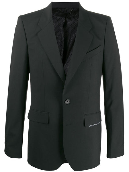 Label Patch Fitted Blazer