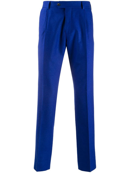 Straight-Leg Felt Trousers