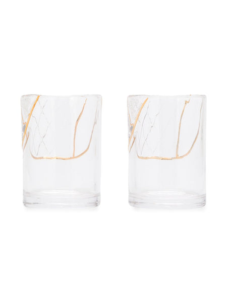 Set Of Two Cut Crystal Tumbler Glasses