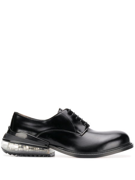 Clear Heel Derby Shoes