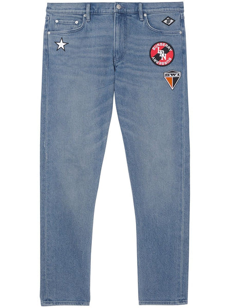 Patch Detail Slim Jeans