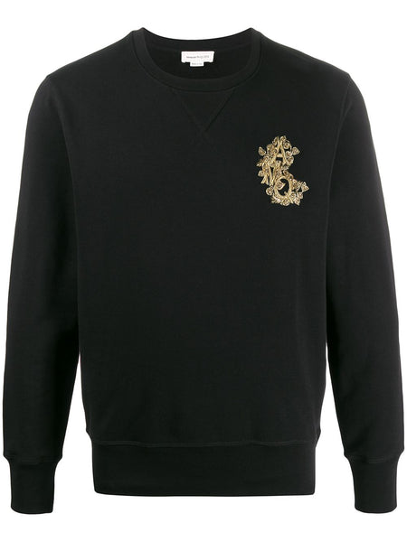 Beaded Logo Patch Sweatshirt