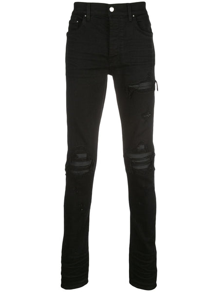 Skinny Fit Distressed Effect Trousers