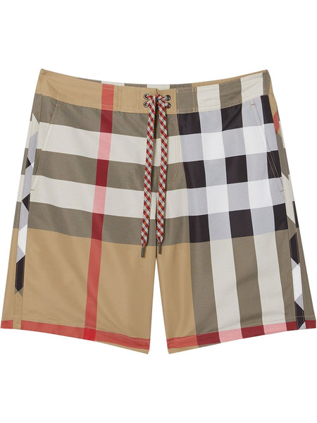 Exploded Check Swim Shorts