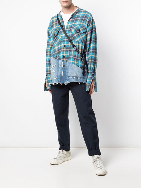 Patchwork Long Sleeve Shirt