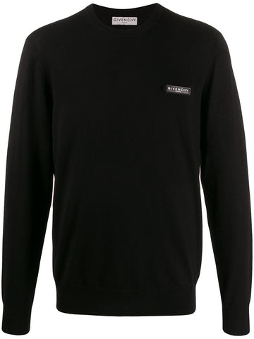 Givenchy Chest Logo Knitted Sweater Black
