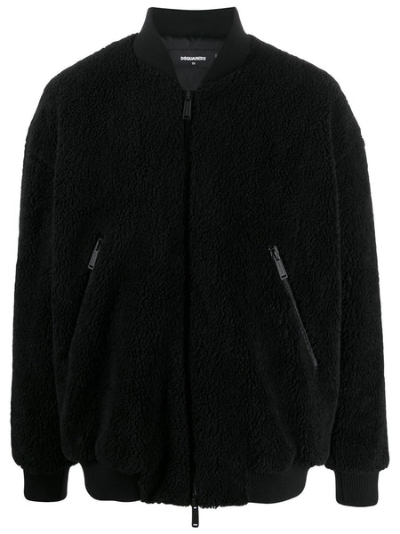 Faux-Shearling Bomber Jacket
