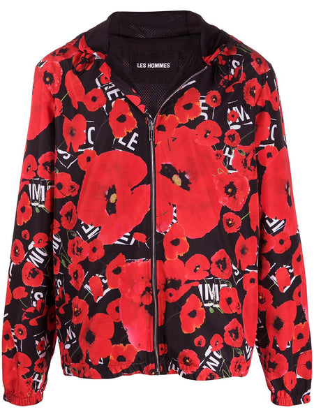 Poppy Print Lightweight Jacket