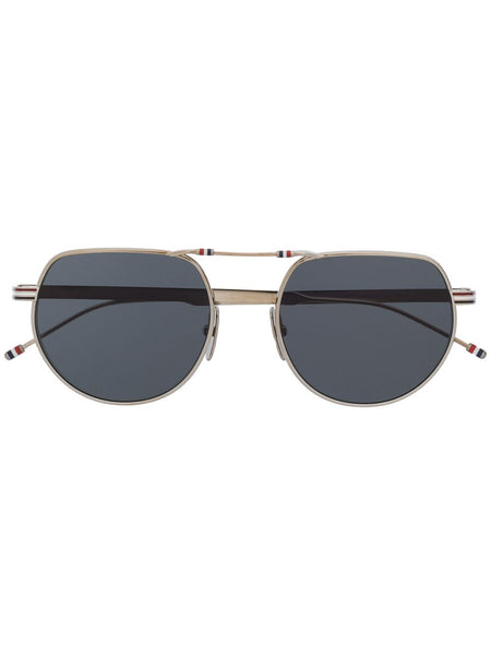 Hingeless Aviator-Frame Sunglasses