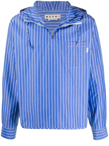 Pinstriped Hooded Shirt