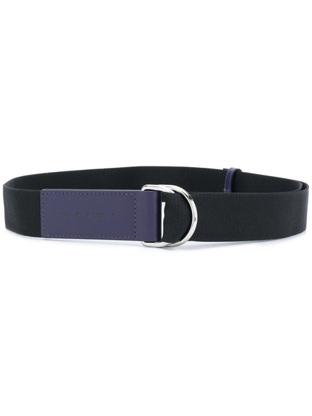 Navy Two Tone D Ring Belt