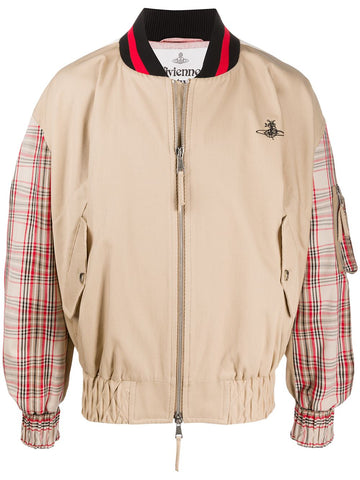 Vivienne Westwood Checkered Bomber Jacket