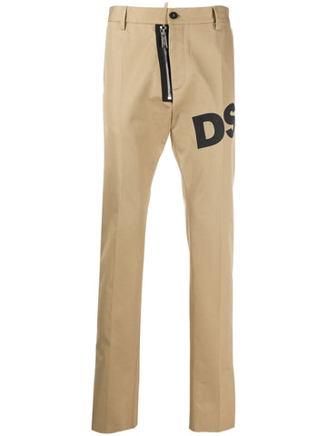 Dsquared2 Tan Logo Leg Trousers
