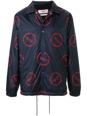 Martine Rose Logo Print Coach Jacket