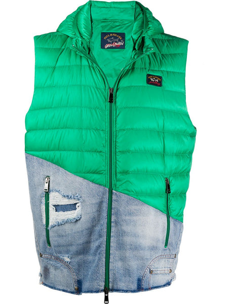 Green Feather Down Gilet Jacket