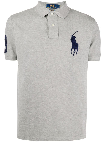 Chest Logo Grey Polo