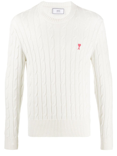 Logo Patch Cable Knit Jumper