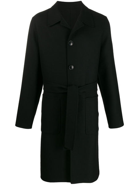 Unstructured Belted Car Coat