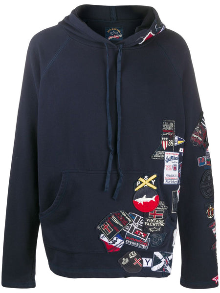 Embroidered Long-Sleeved Hoodie
