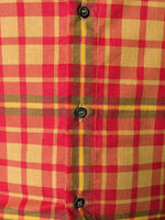 Plaid Logo Print Shirt