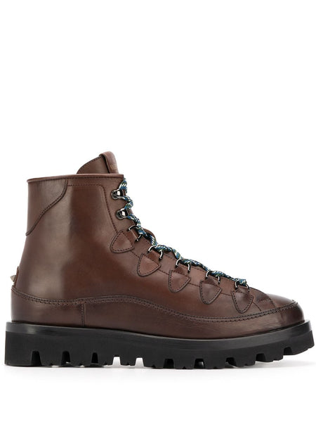 Leather Lace-Up Hiking Boots
