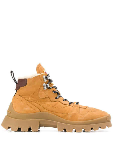 Shearling-Lined Hiking Boots