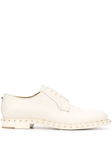 Rockstud Leather Derby Shoes