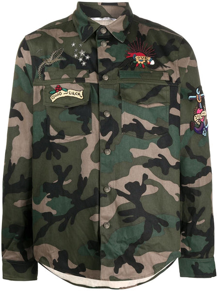 Embroidered Camouflage Shirt