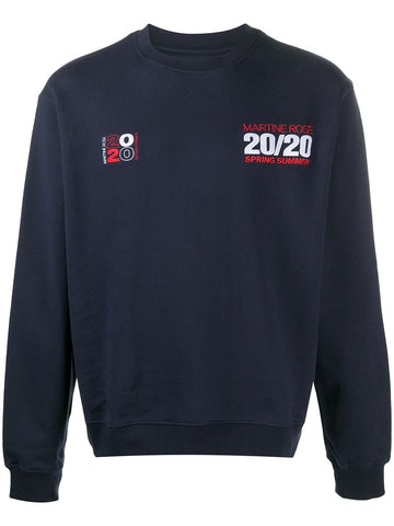 Martine Rose Graphic Logo Navy Sweatshirts