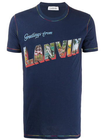Lanvin Greetings Graphic T-shirt