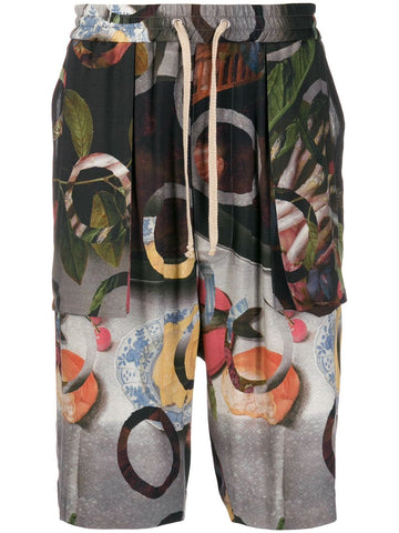 Vivienne Westwood Fruit Print Long Shorts