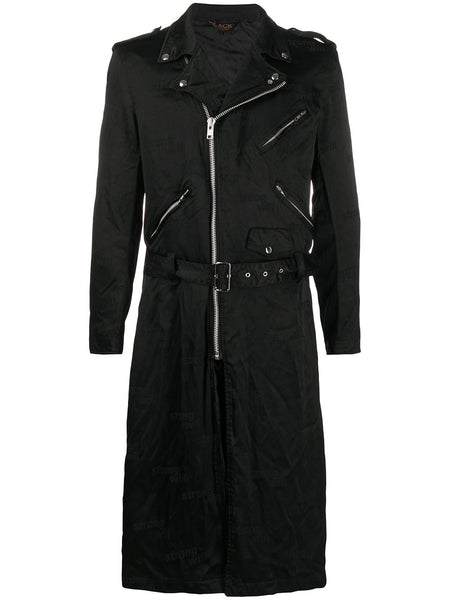 Strong Will Biker Trench Coat