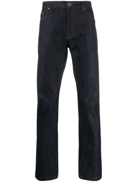 Straight Mid-Rise Jeans