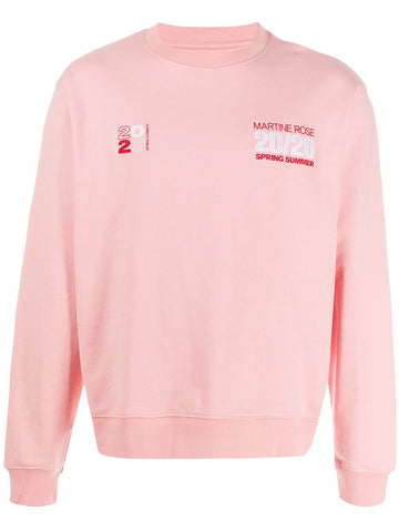 Martine Rose Graphic Logo Pink Sweatshirts