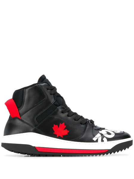 Maple Leaf Hi-Top Sneakers
