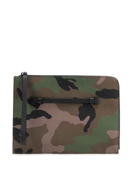 Camouflage Print Clutch