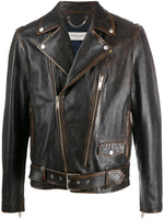Faded Leather Biker Jacket