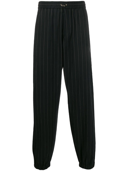 Black Pin Stripe Trousers