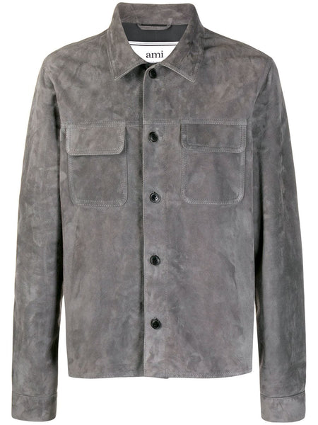 Suede Button Overshirt