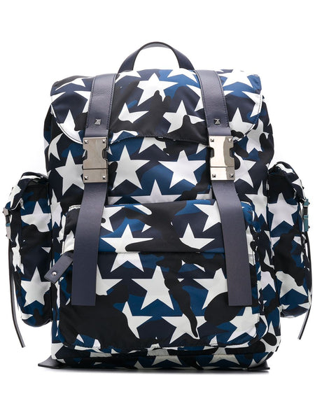 Camouflage Star-Print Backpack
