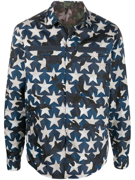 Camouflage Star-Print Jacket