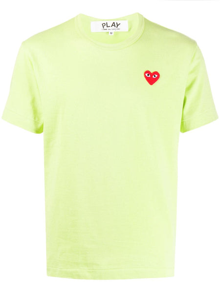 Heart Embroidered Round Neck T-Shirt