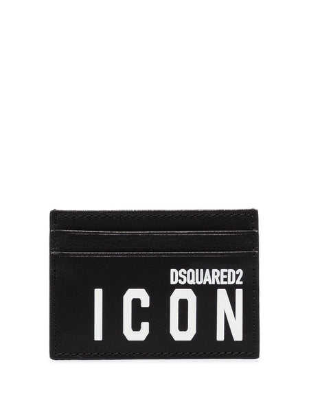 Icon Logo-Print Leather Card Holder