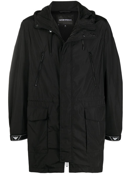 Hooded Black Parka